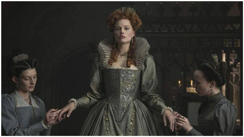 Margot Robbie, en su papel de Isabel I en 'María, reina de Escocia'. (Universal Pictures)