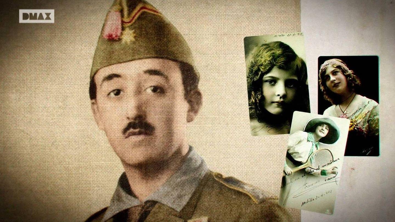 Franco de joven junto a las fotos de su primera novia, una chica de Ferrol.