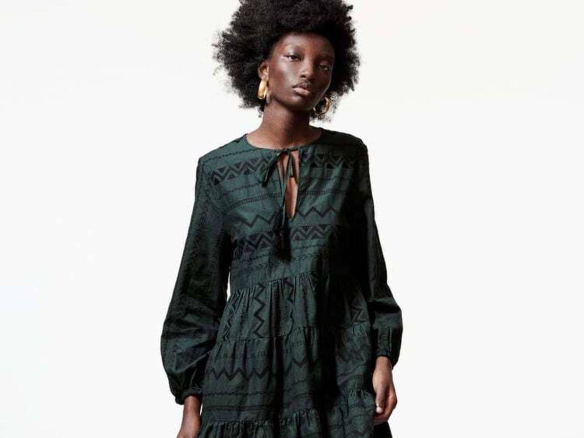 Foto: El vestido corto de Zara. (Cortesía)
