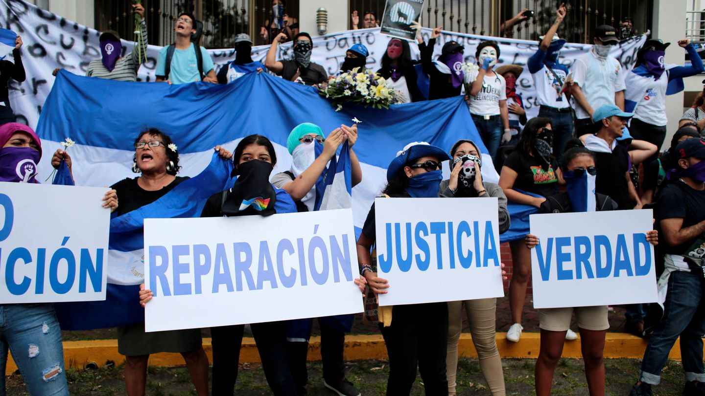 Manifestantes en Nicaragua. (Reuters)