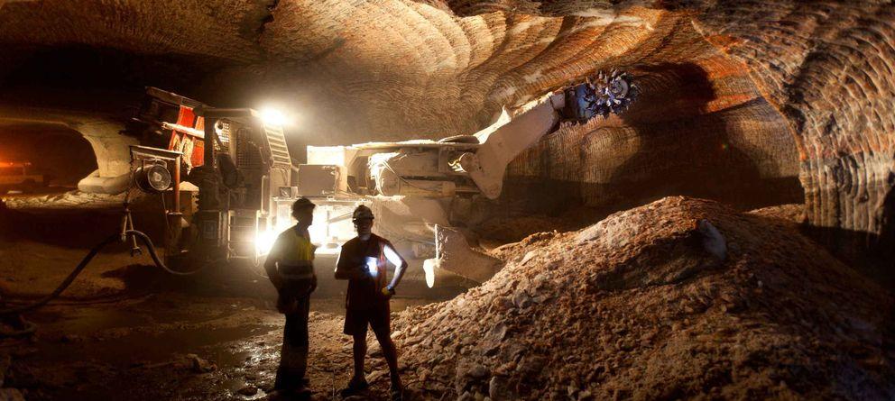 Foto: Interior de la mina de Cabanasses (Foto: Iberpotash)