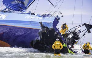 Team Vestas Wind, tocado… pero no hundido