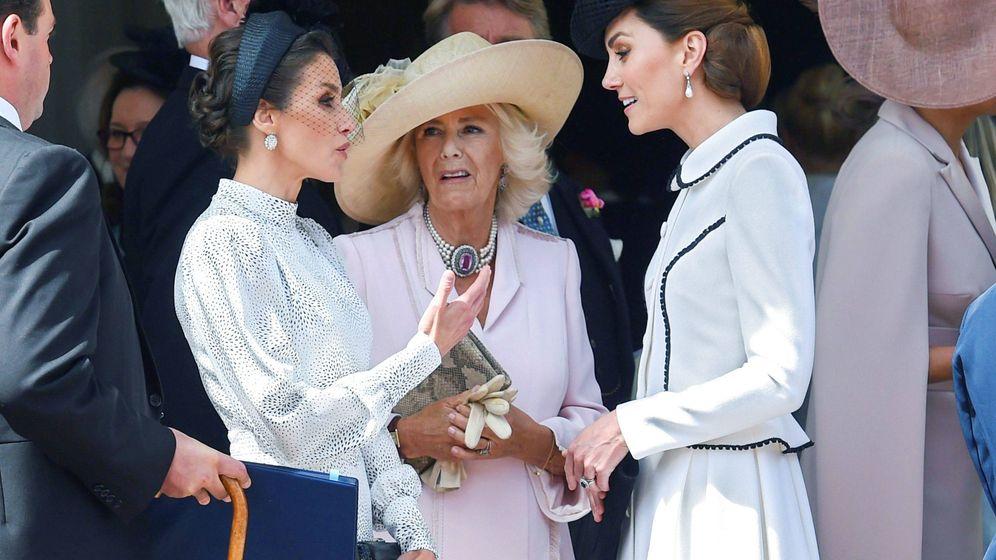 Foto: La reina Letizia, Camilla Parker y Kate Middleton, en una imagen de archivo. (EFE)