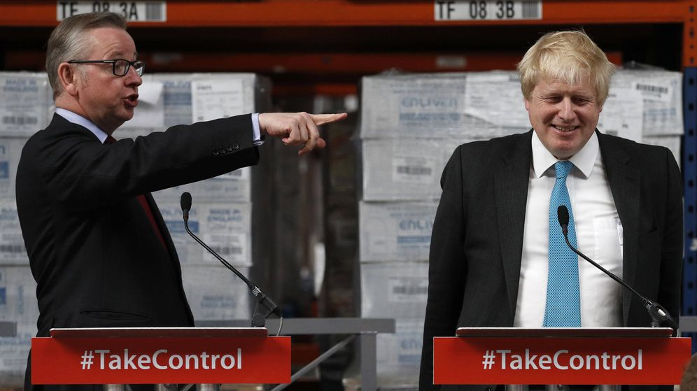 Foto: Boris Johnson y Michael Gove en 2016. (Reuters)