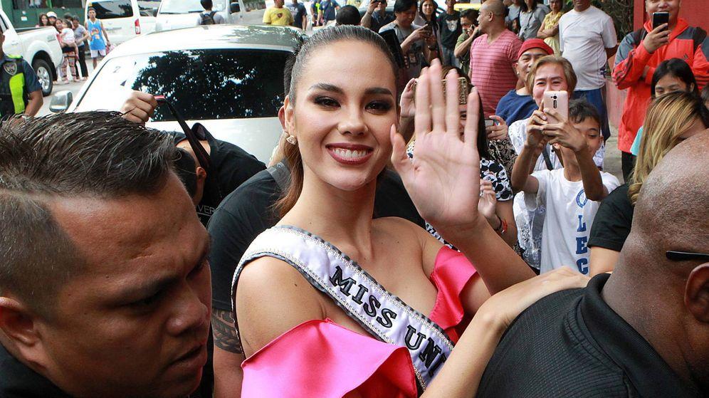 Foto: Catriona Gray, recibida como una estrella en Filipinas. (Cordon Press)