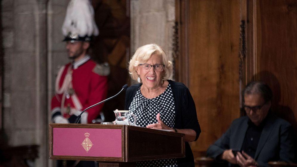 Foto: Manuela Carmena prununcia el pregón de las fiestas de la Mercé en Barcelona