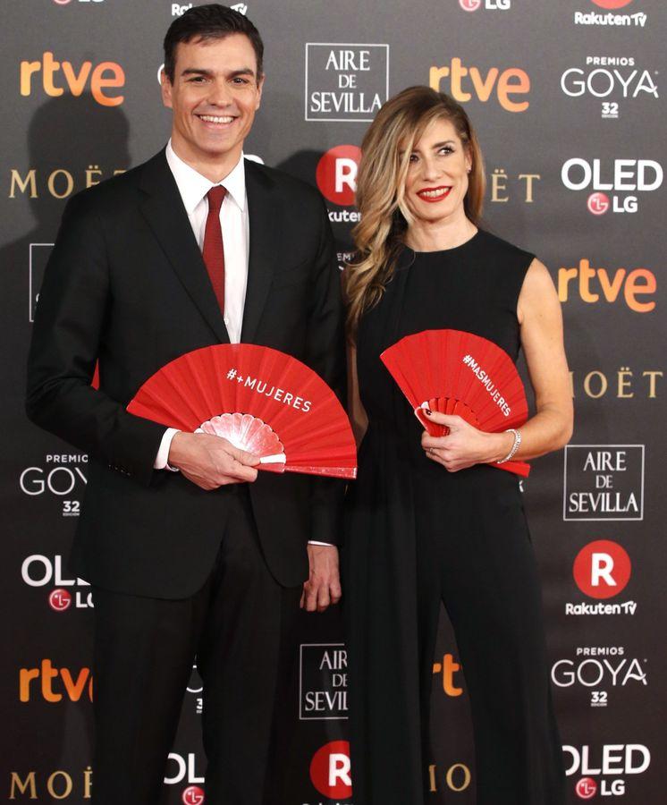 Foto: Begoña y Pedro en los Goya. (EFE)