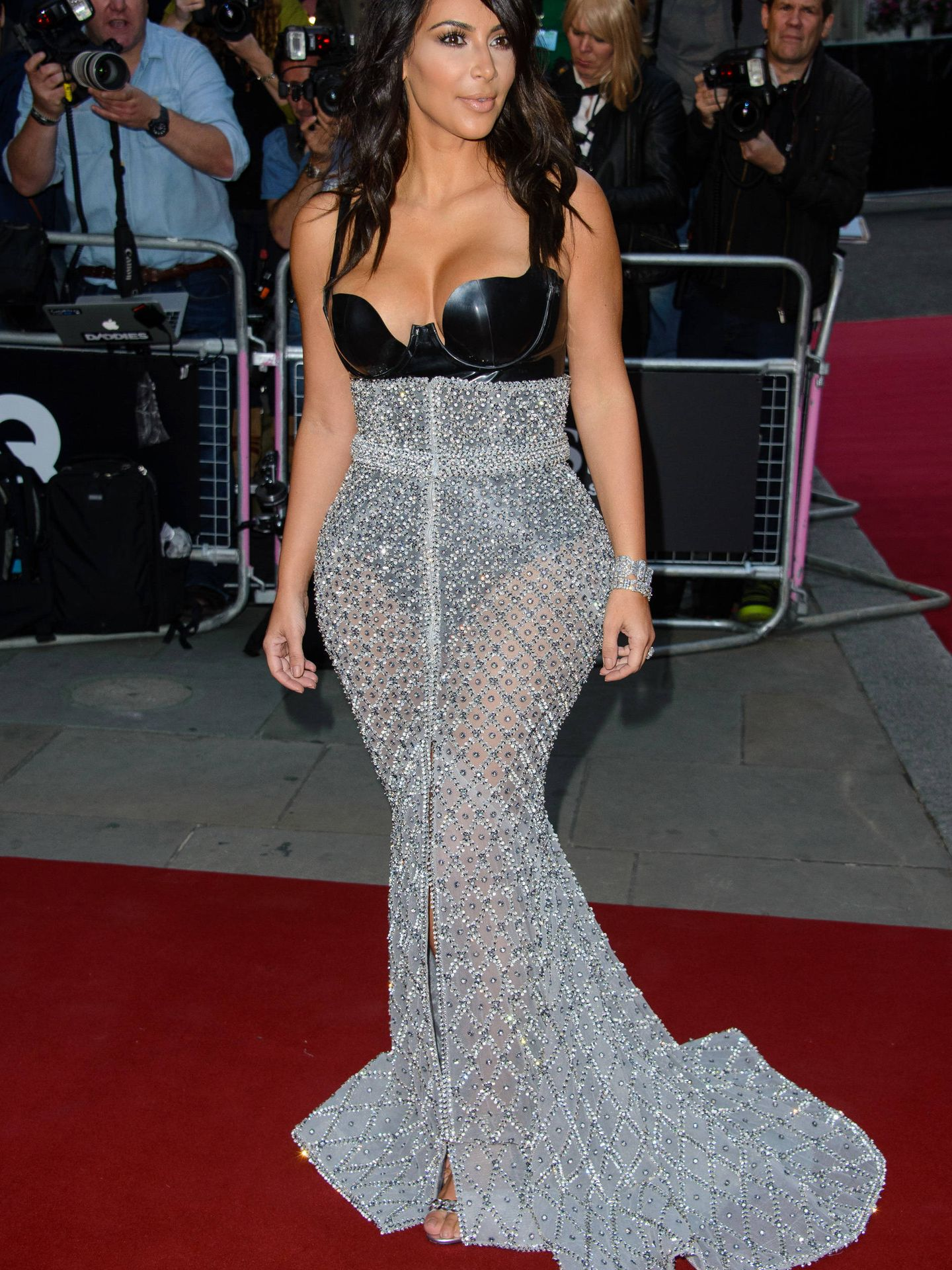 Kim Kardashian, reina de la alfombra roja.