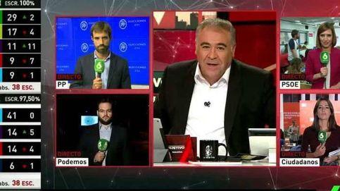 El especial electoral de La Sexta (8,5%) gana nuevamente al de La 1 (5,6%)