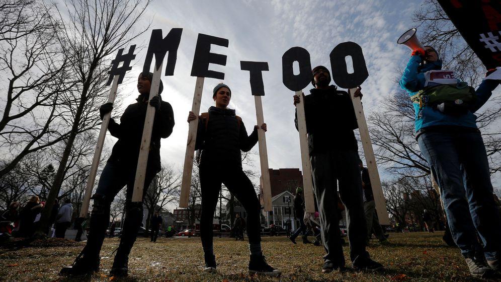 Foto: Concentración #METOO en Cambridge, Massachusetts. (Reuters)