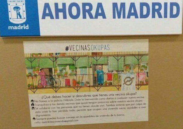 Foto: Cartel de Ahora Madrid.