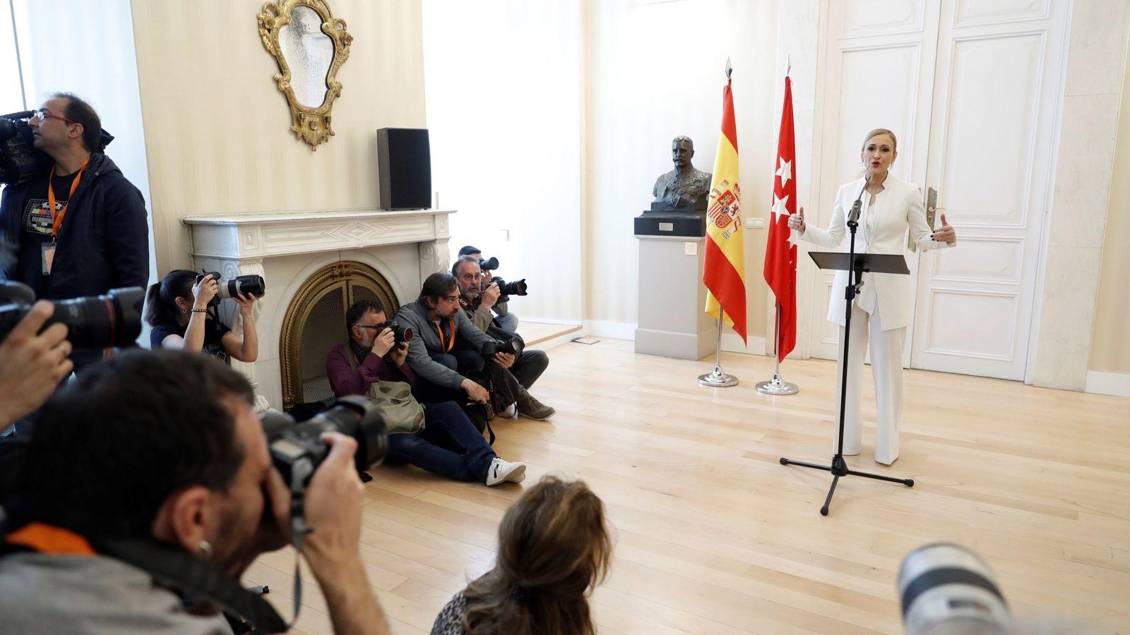 Foto: Cristina Cifuentes anuncia su dimisión   EFE