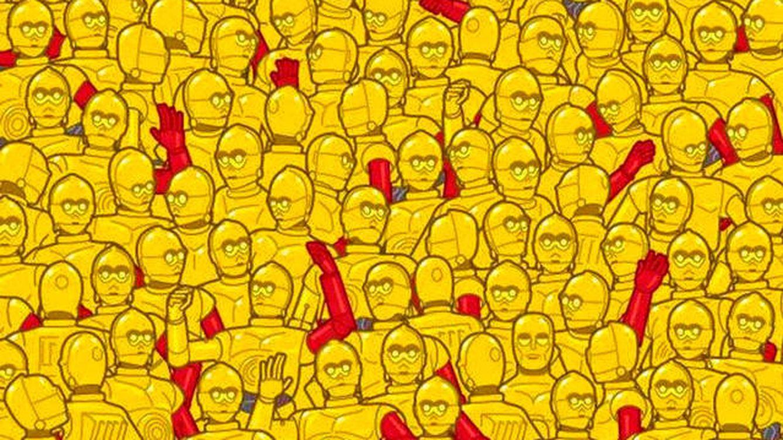 Acertijo viral: hay un Oscar de Hollywood escondido entre muchos C3PO