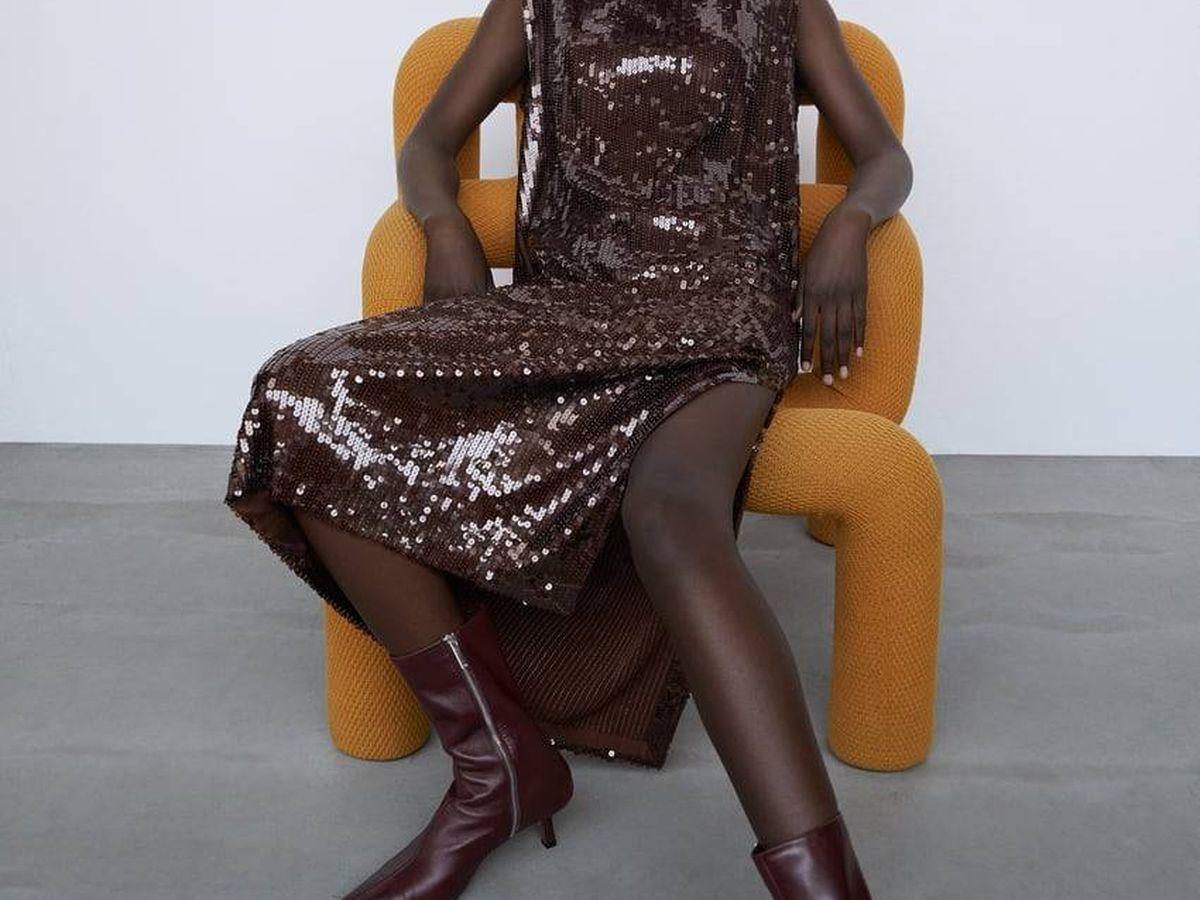 Foto: Vestido de lentejuelas de Zara. (Cortesía)