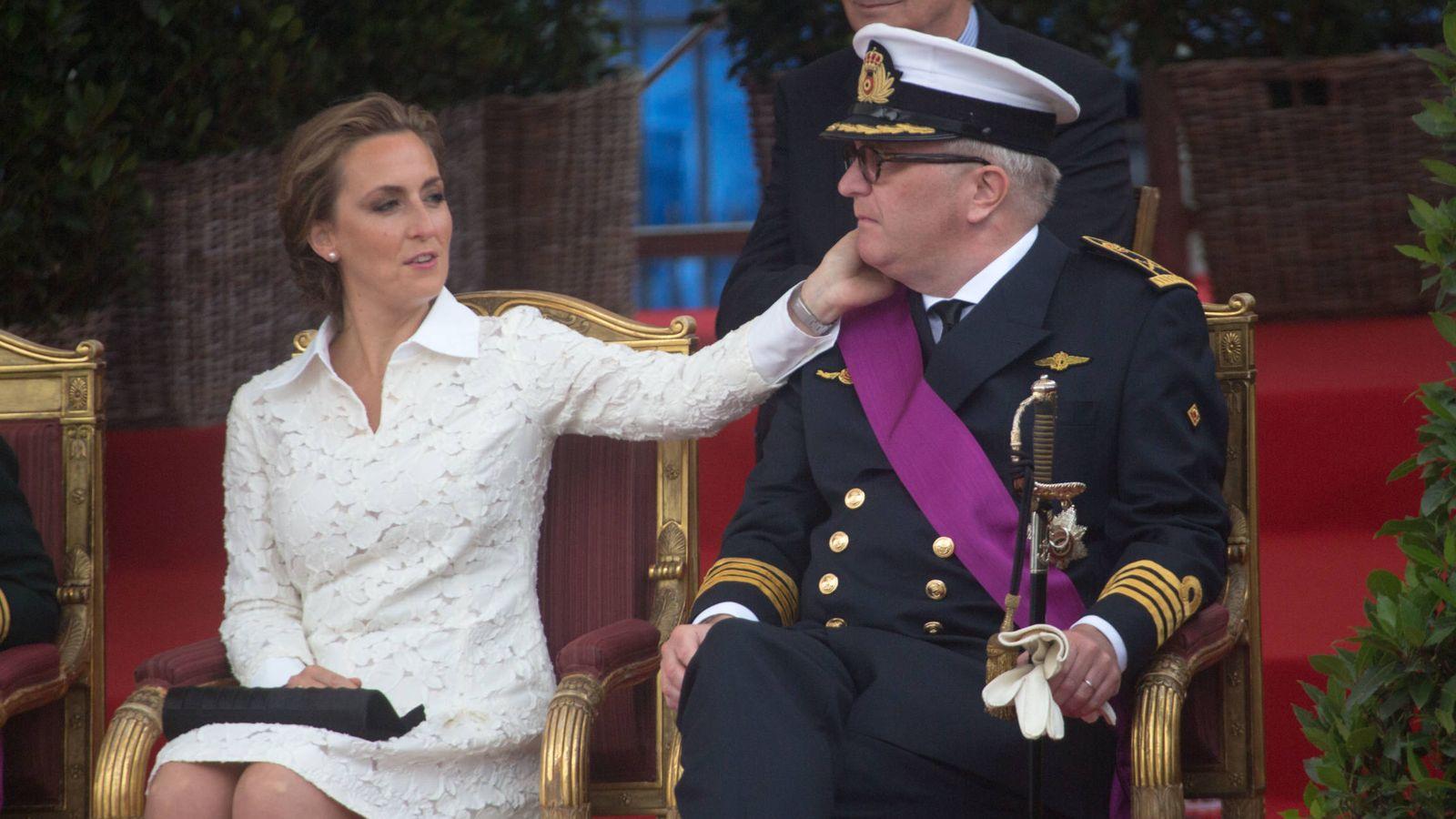 Foto: El príncipe Laurent de Bélgica y la princesa Claire. (Getty)