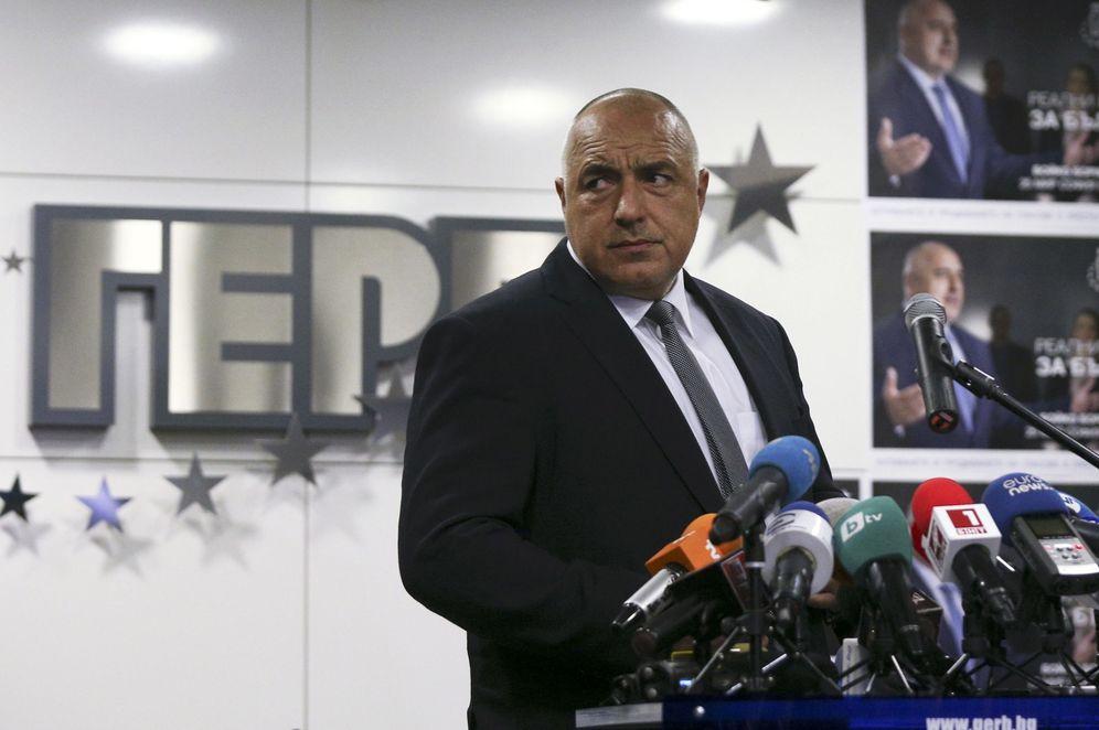 Foto: El ex primer ministro y líder del GERB, Boiko Borisov, en la sede de su partido en Sofía (Reuters)