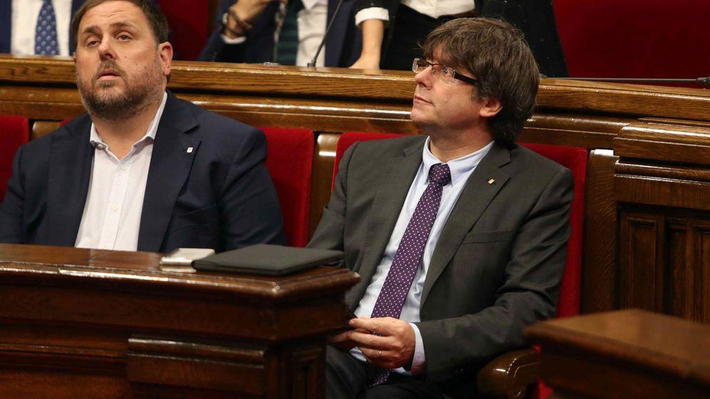 Foto: Pleno del Parlament que ha aprobado la ley del referéndum.