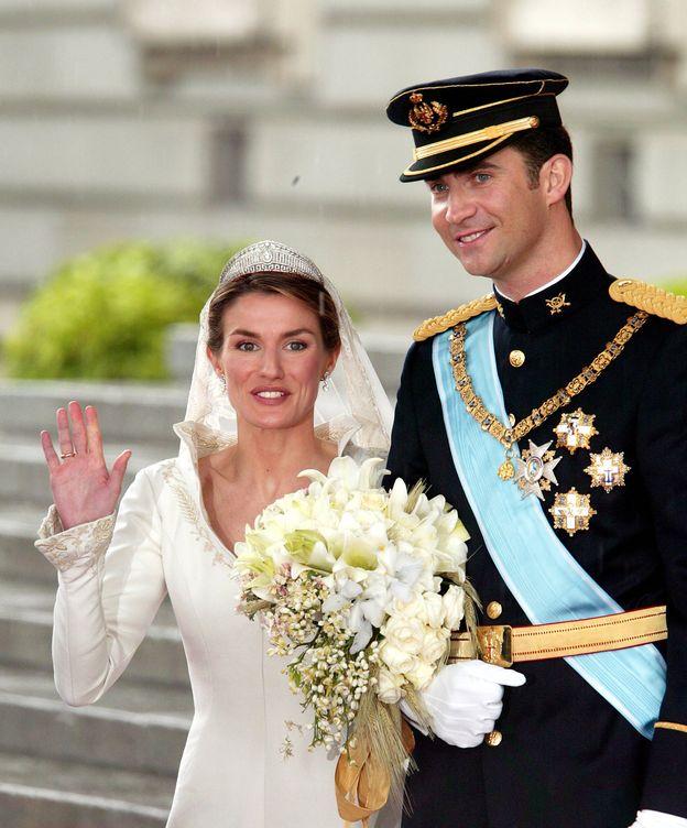 Foto: Los entonces Príncipes de Asturias el día de su boda (Gtres)