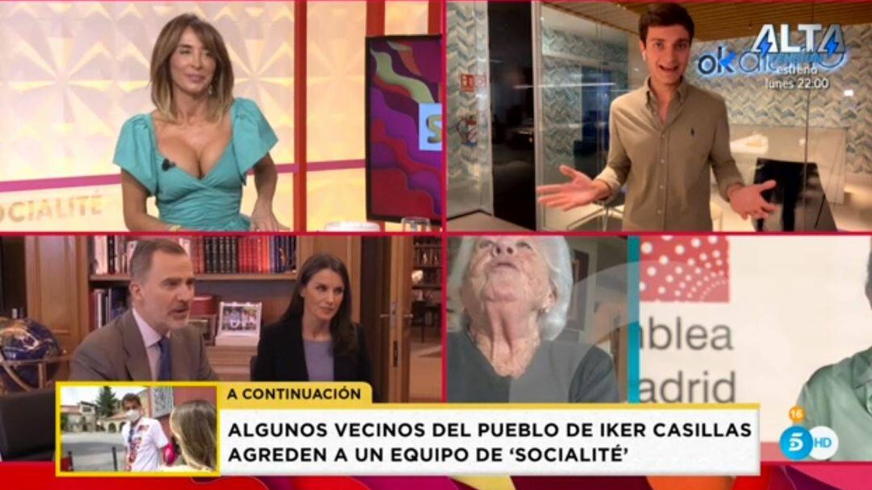 María Patiño, en 'Socialité'. (Mediaset España)