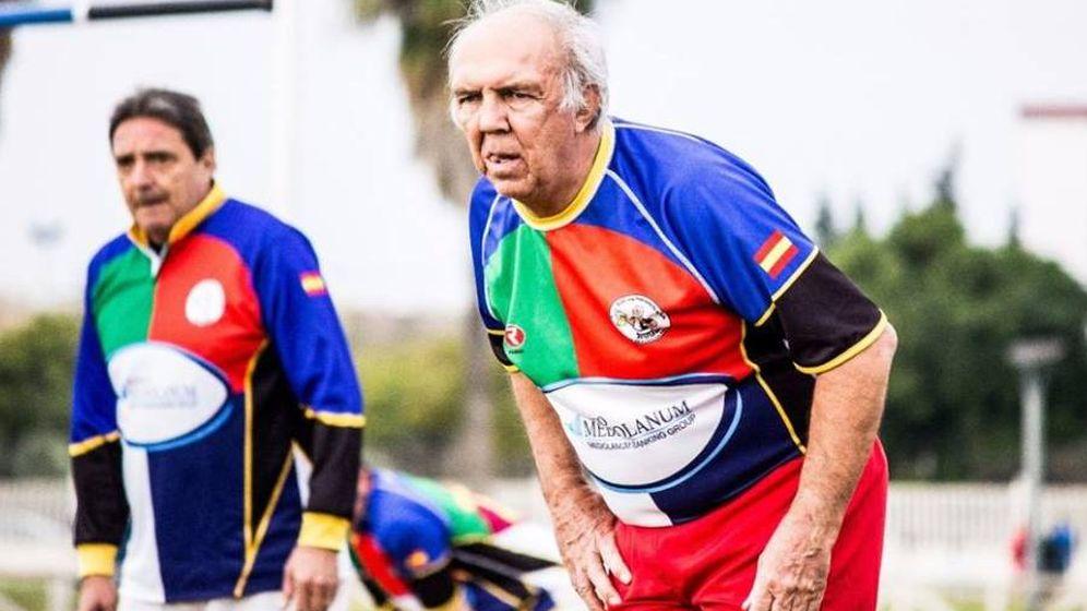 Foto: Daniel Roche, durante un partido con los veteranos de Sevilla