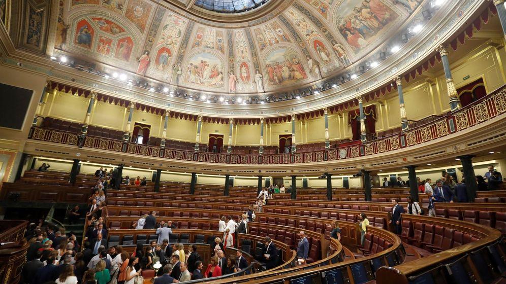 Foto: El Congreso de los Diputados, tras la fallida investidura de Pedro Sánchez. (EFE)