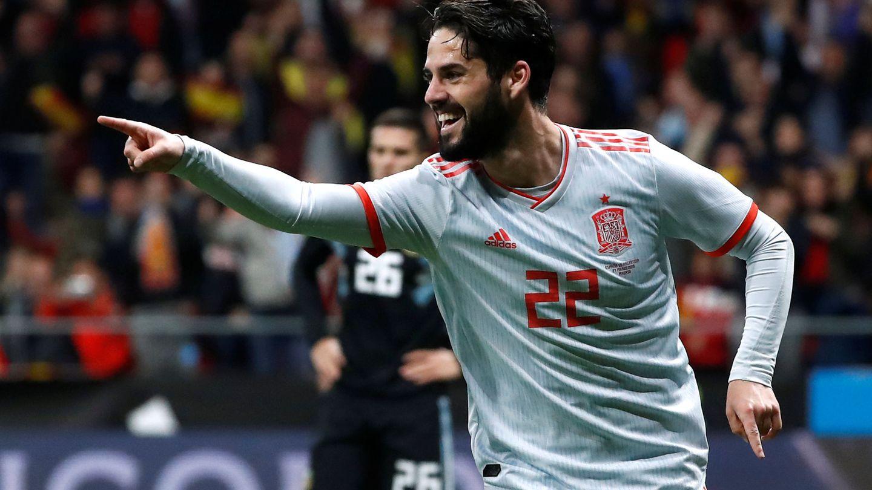Isco marcó tres goles en la victoria de España por 6-1 a Argentina el pasado martes en el Wanda Metropolitano. (Reuters)