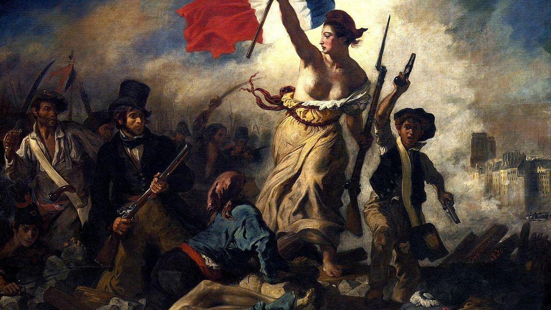 'La libertad guiando al pueblo', Delacroix.