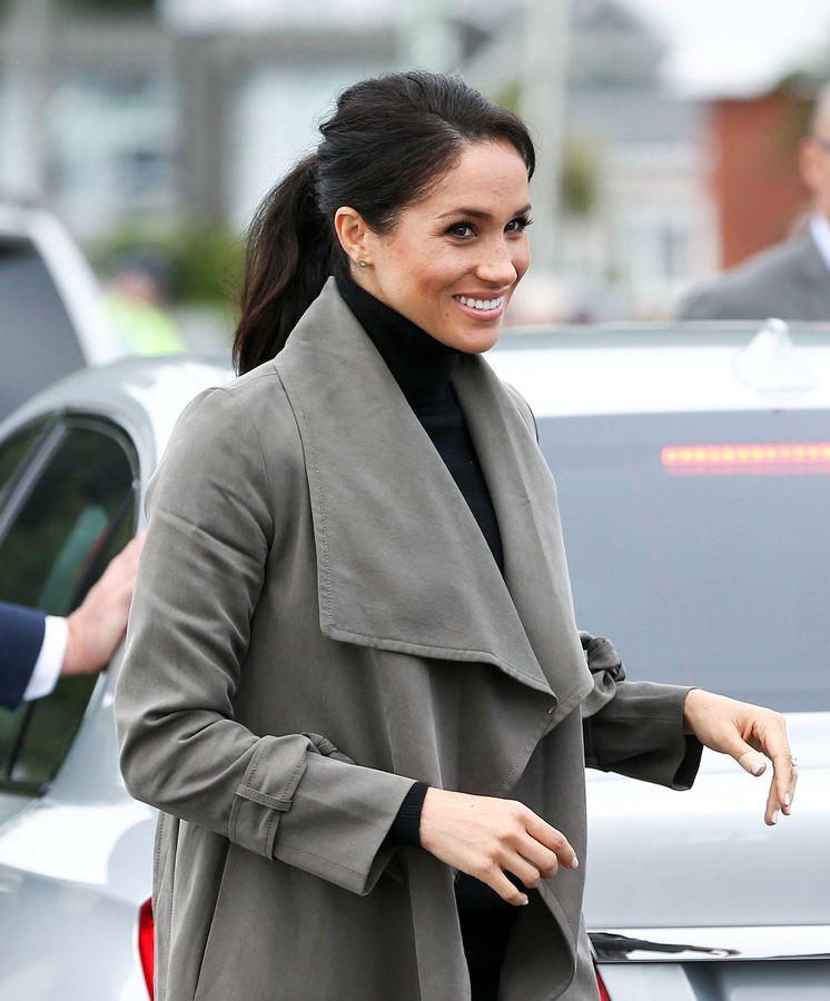 Foto: La duquesa durante su visita en Wellington. (Getty)