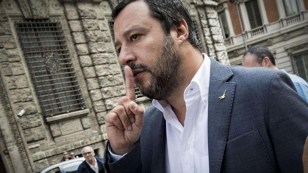 Foto: Matteo Salvini, líder de la Liga, antes de una reunión con Di Maio, del Movimiento 5 Estrellas. (EFE)