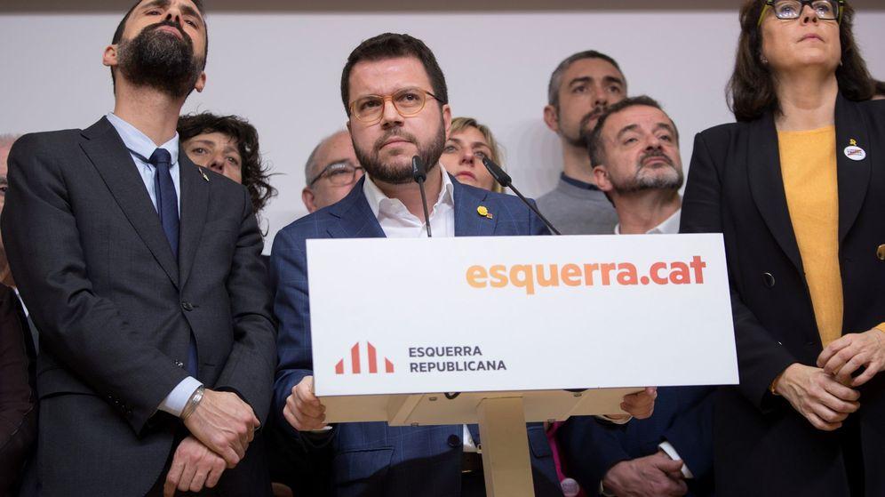 Foto: El coordinador nacional de ERC, y vicepresidente del Govern, Pere Aragonès (c). (EFE)