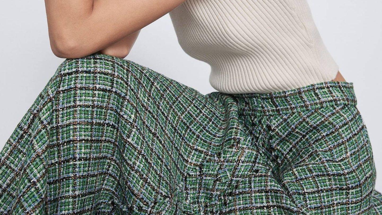Falda de Zara. (Cortesía)
