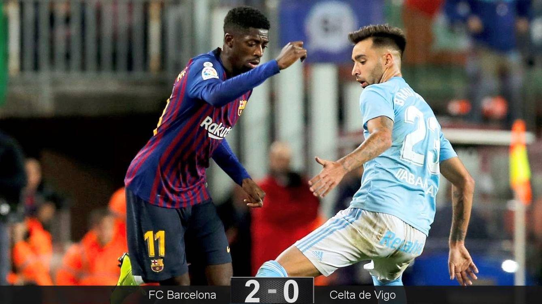 Foto: Dembélé lleva 10 goles esta temporada. (EFE)