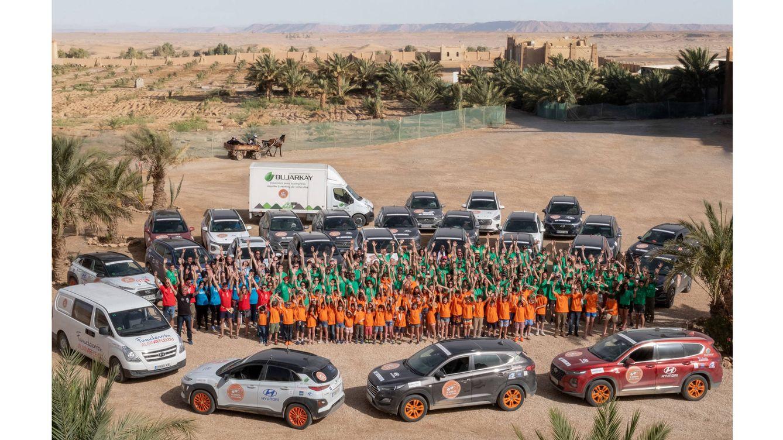 Foto: La inauguración de la escuela Hyundai – Federico Granda, construida en la localidad de Fezzou, fue el acto más emotivo de esta XV edición del viaje solidario 'El Desierto de los Niños'.