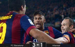 El Barcelonaa encarrila la final al aprovechar el vértigo del Villarreal