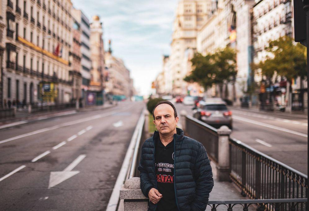 Foto: Enrique Rodrigo, portavoz de 'Tu abandono me puede matar'. (Jorge Álvaro Manzano)
