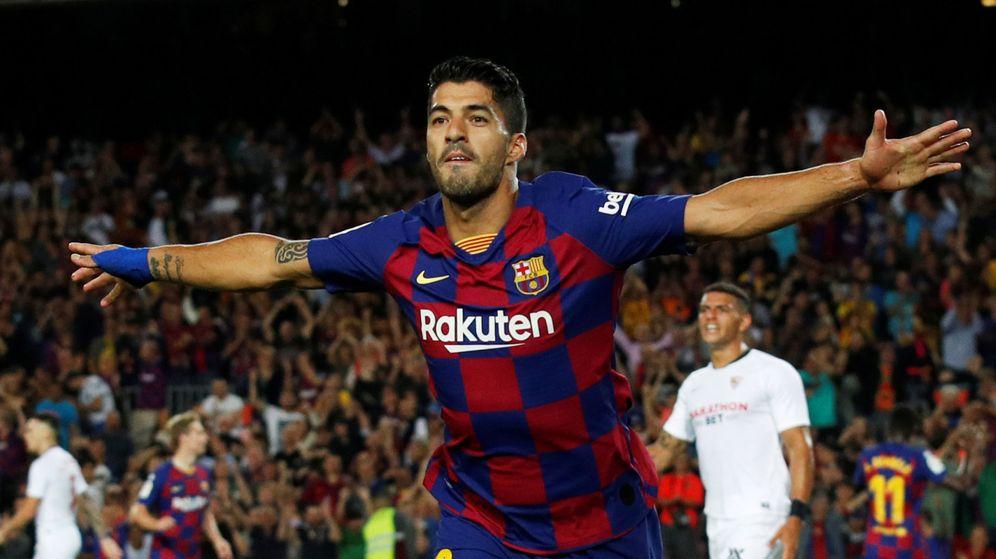 Foto: Luis Suárez, celebrando su gol. (Reuters)