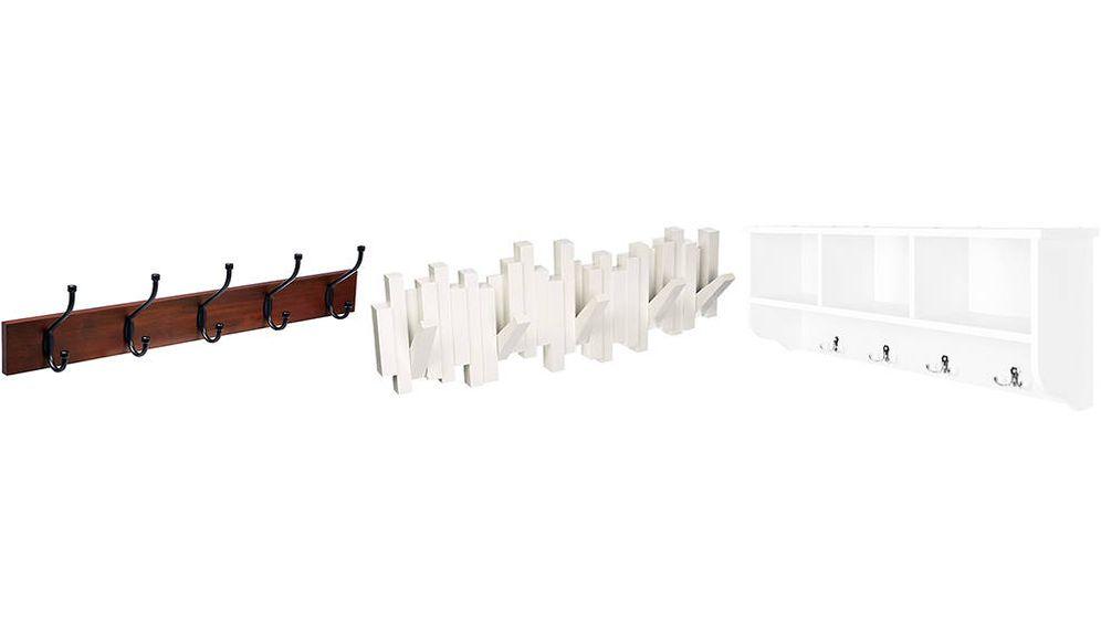 Foto: Los mejores percheros de pared para colgar la ropa