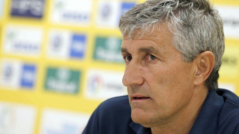 Foto: Quique Setién, técnico de la Unión Deportiva Las Palmas. (EFE)