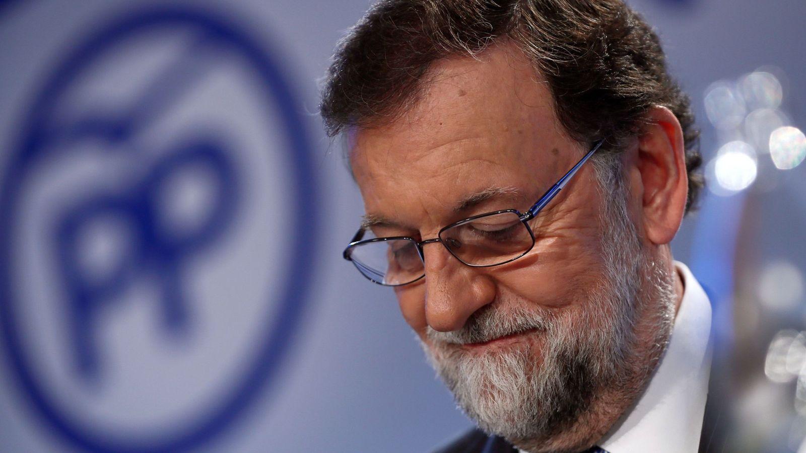 Foto: El expresidente del Gobierno Mariano Rajoy durante la reunión de la Junta Directiva Nacional del PP. (EFE)