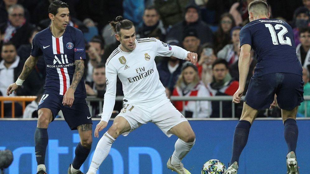 Foto: Gareth Bale, durante el Real Madrid-PSG de la quinta jornada de la Champions League. (EFE)