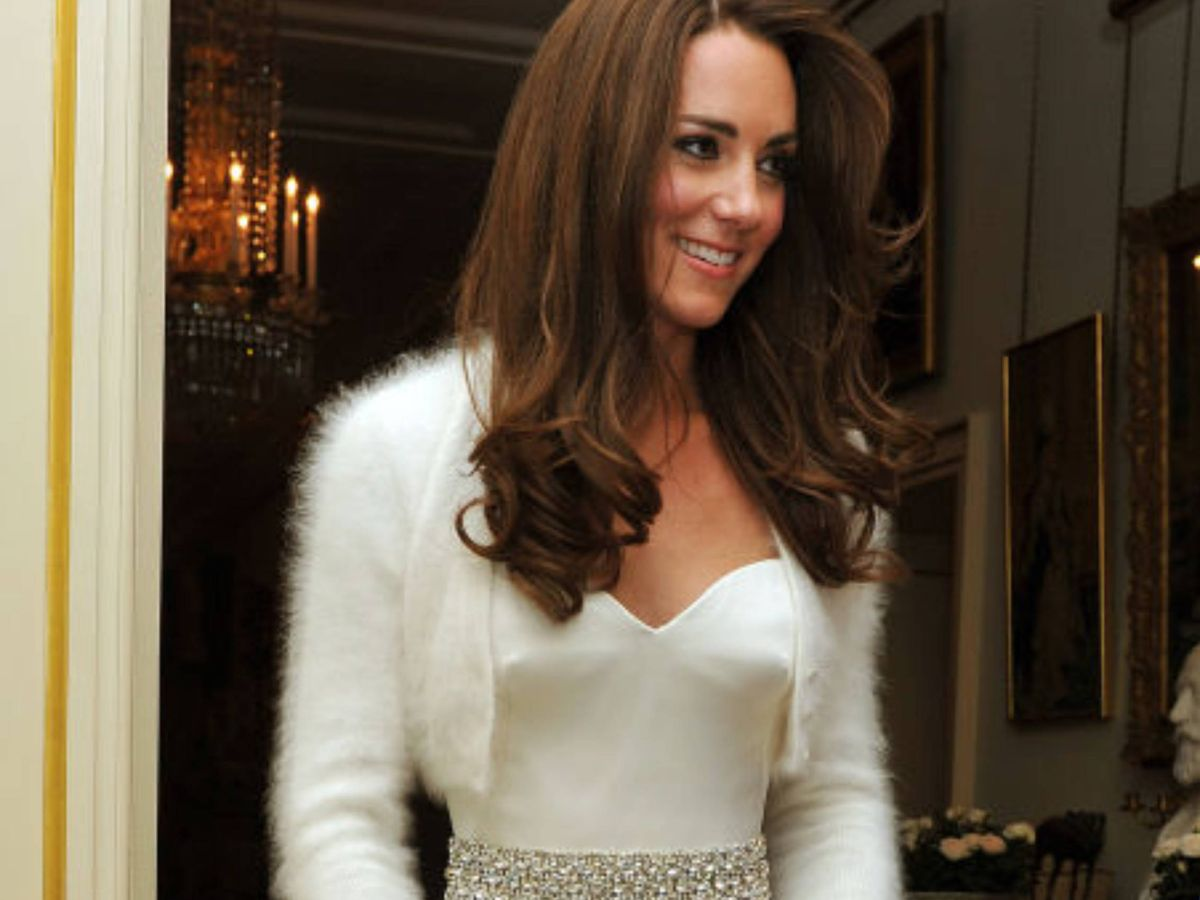 Foto: Kate Middleton, con su segundo vestido de novia. (Getty)