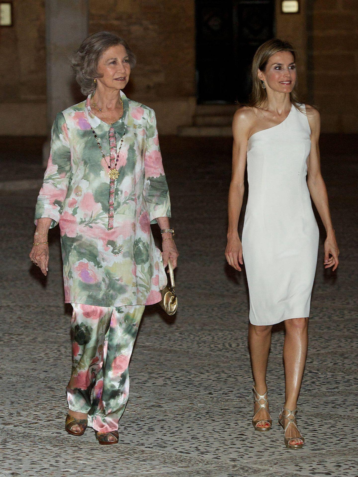 Junto a la reina Sofía, en 2014 en el palacio de la Almudaina. (Limited Pictures)