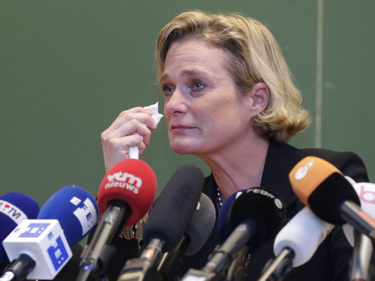 Foto: Delphine Boël, en rueda de prensa este lunes. (EFE)