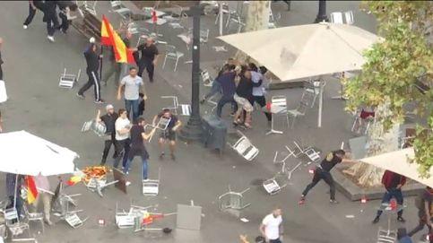Violentos incidentes entre ultras en Barcelona