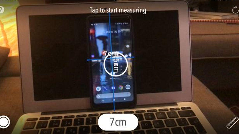 Con la Realidad Aumentada de Apple, uno puede medir objetos. (M.MC)