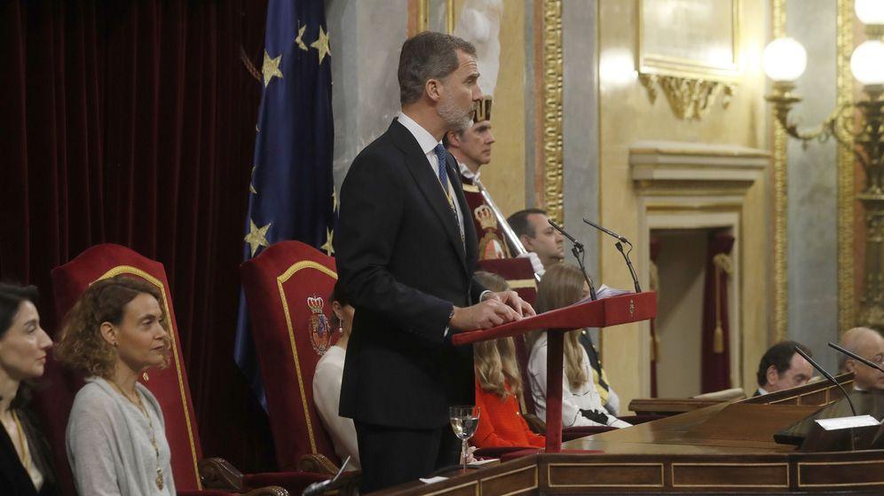 Foto: Felipe VI, durante el discurso en el Congreso de los Diputados. (EFE)