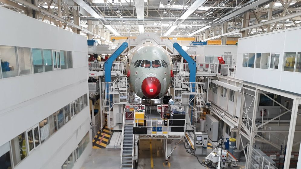 Foto: Producción del A350 en Toulouse. (C.P.)