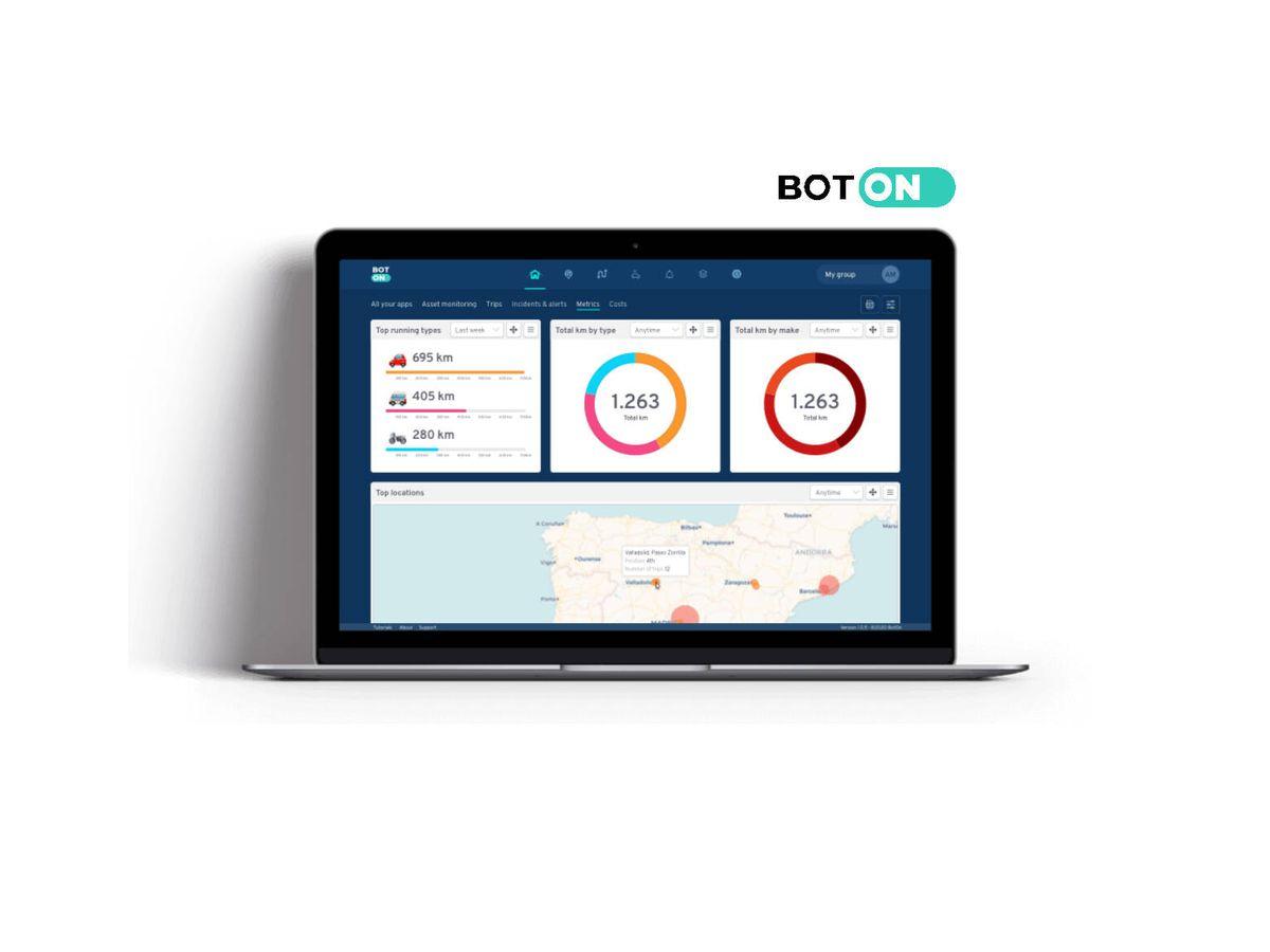Foto: BotOn busca que sus clientes tengan en su mano toda la información relativa a sus flotas de la manera más sencilla, eficiente y funcional.