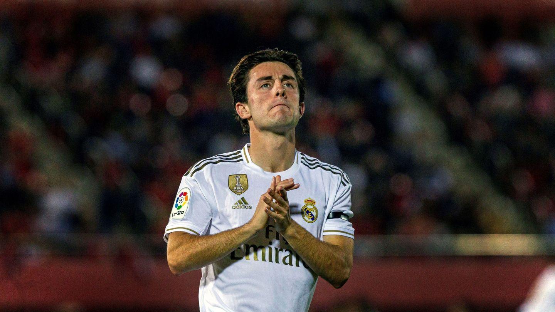 Odriozola acabó el partido expulsado en Mallorca. (EFE)