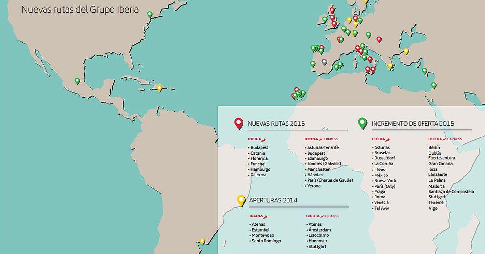 Foto: Iberia anuncia que abrirá 13 nuevas rutas europeas en el verano de 2015